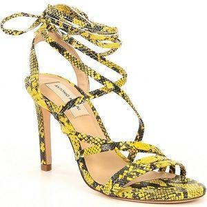 NWT ANTONIO MELANI Snake Print Lace Up Sandals